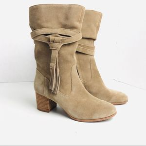 Tahari Suede Mid-Calf Boots Size 6.5